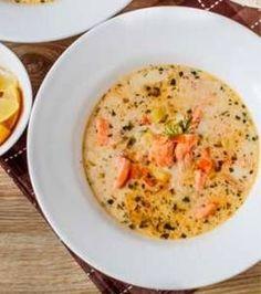 Finská krémová polévka z lososa Salmon Recipes, Seafood Recipes, Soup Recipes, Dinner Recipes, Cooking Recipes, Healthy Recipes, Salmon Soup, Finnish Recipes, Heritage Recipe