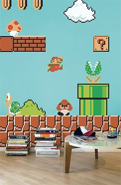 The Nintendo Super Mario Bros Re-Stik Wall Decal by Blik. you have to love it!