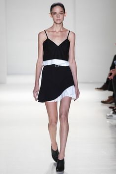 Amazing contrast hem! Victoria Beckham Spring 2014 Ready-to-Wear Collection Slideshow on Style.com