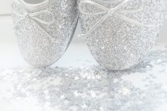 white sparkle ballet shoes ♥