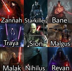 Hey Disney here's a simple visual of who you need to bring to canon. - Star Wars Siths - Ideas of Star Wars Siths - Hey Disney here's a simple visual of who you need to bring to canon. Star Wars Trivia, Star Wars The Old, Star Wars Facts, Star Wars Clone Wars, Star Wars Humor, Darth Nihilus, Cuadros Star Wars, Star Wars Pictures, The Old Republic