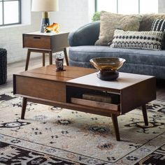 The Belham Living Campbell Mid Century Modern Lift Top Marble Coffee Table will add a style to your mid-century living room you didn't know you. Marble Top Coffee Table, Coffee Table Rectangle, Coffee And End Tables, Lift Top Coffee Table, Coffee Table Design, Modern Coffee Tables, Walnut Coffee Table, Modern Table, Side Tables