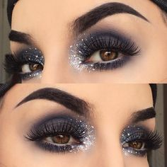 Gorgeous Dramatic Makeup | Dramatic Eye | Glitter Shadow