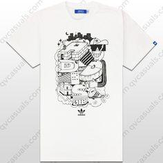 adidas Originals Mens G Tee Houses T-Shirt X34443 at QV casuals.
