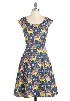 Prancing in the Reindeer Dress, #ModCloth