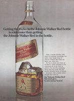 Johnnie Walker Red Bottle 1973 Ad Picture