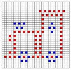 Ravelry: Train Bobble Chart pattern by Kari Philpott Crochet Bobble Blanket, Picot Crochet, Bobble Stitch Crochet, Manta Crochet, Crochet Chart, Crochet Motif, Crochet Stitches, Free Crochet, Knitting Charts