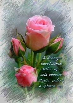 Germana estimada may t' Birthday Wishes, Birthday Cards, Happy Birthday, Erotic Art, Pink Roses, Congratulations, Diy And Crafts, Prayers, Birthdays