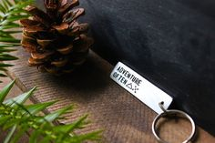 Adventure Often  Personalized Hand Stamped Key Tag  by ModernOut