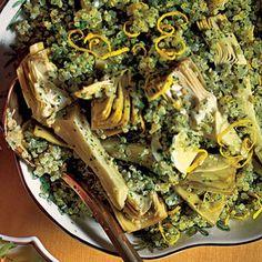 Quinoa ai carciofi. artichoke is my favorite