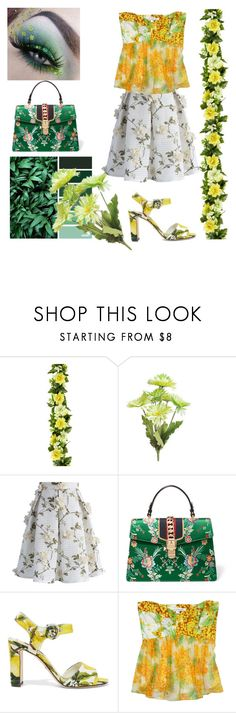 """Spring green and yellow"" by greensparkle1 ❤ liked on Polyvore featuring Gerber, Chicwish, Gucci, Dolce&Gabbana and Diane Von Furstenberg"