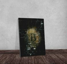 Best Seller Bitcoin Crypto Modern Art Motivational Artwork Wall Art, Office Home Decor Gallery Style Canvas, inches Thick Wood Frame - bitcoinartwork Cyberpunk Art, Office Wall Art, Blockchain, Artwork Wall, Modern Art, Canvas Prints, Motivational, Bitcoin Market, Gallery