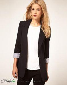 Пиджак женский черный фото