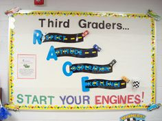 Kindergartners Start Your Engines (that would be a lot to punch out.. .) but its something different
