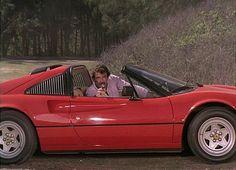Tom Selleck com uma das Ferraris em Magnum (Foto: Divulgação)