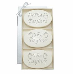 Monogram Carved Christmas Soap  - Spa Aqua Mineral - So pretty you won't want to use it but so refreshing you just might have to do so!!