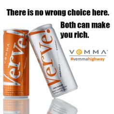 The refreshing, fast-acting Verve Energy Drink is packed with energy and the antioxidant power of the Vemma formula.   Verve delivers insanely healthy energy when you need it most!   #verve #diabeticfriendly #vemmahighway #naturalcaffine