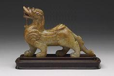 Jade pi-hsieh animal to ward off evil  Han Dynasty (206 BC-220 AD).