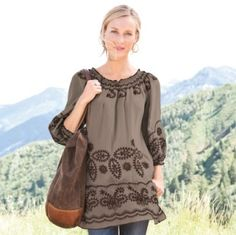 embroidered tunic by ten