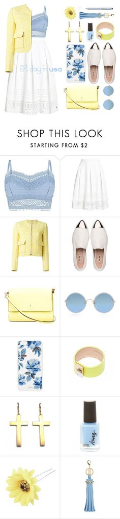 """""""27.day in USA"""" by elizcoco ❤ liked on Polyvore featuring Lipsy, Superdry, Carven, Miu Miu, Kate Spade, Sunday Somewhere, Sonix, Balenciaga, Chicnova Fashion and Sophie Hulme"""