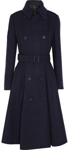 Burberry Belted brushed wool-blend coat