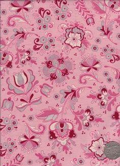 """Delft Floral Pink  """"Mosaic Bloom"""" designed by Rosalie Dekker."""
