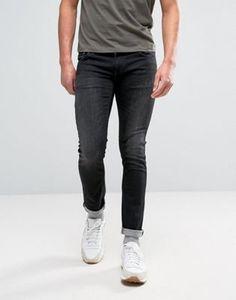 Черные выбеленные джинсы Nudie Jeans Co