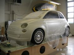 Paint job on the RC flying Fiat 500