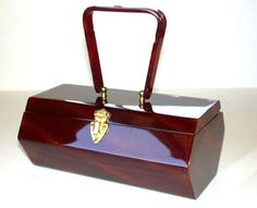 Unusual faceted signed Wilardy Box Bag with subtle caramel diagonal strips.