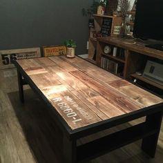 DIYやってると 端材ドンドンたまりませんか? そんな端材を使ってローテーブルを作りました♪