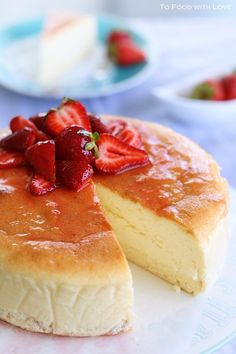 Creamy Japanese Cheesecake with Sponge base