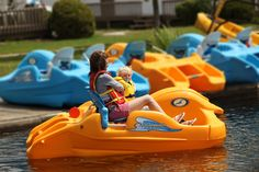 Paddle boating at Fern Resort