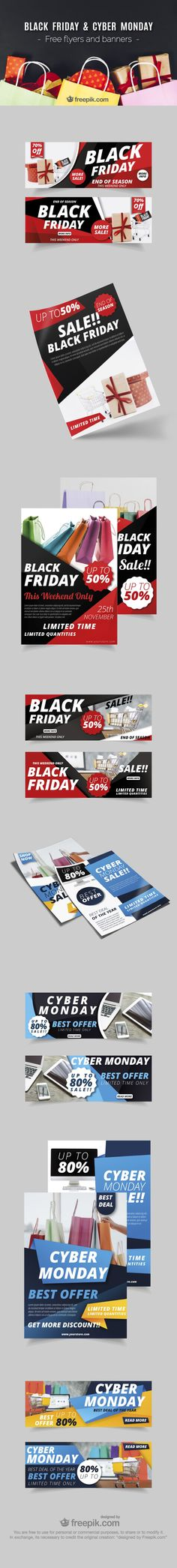 Black Friday Flyers and websites banners