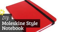 DIY Moleskine Style Notebook: Case Binding (How to Make), via YouTube. - with rounded corners