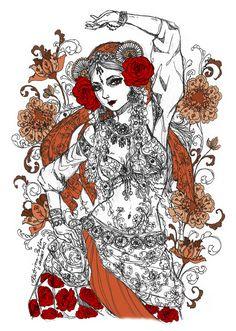 """Gypsy Tribal Dancer"" by Katrina Pallon"
