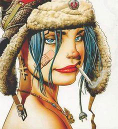 In the mid-Nineties, Tank Girl was the everything, an anarchic, swearing post-apocalyptic mercenary teen. So what was the Tank Girl Zodiac Sign? Jamie Hewlett, Manga Comics, Bd Comics, Gorillaz, Comic Books Art, Comic Art, Illustrations, Illustration Art, 3d Art