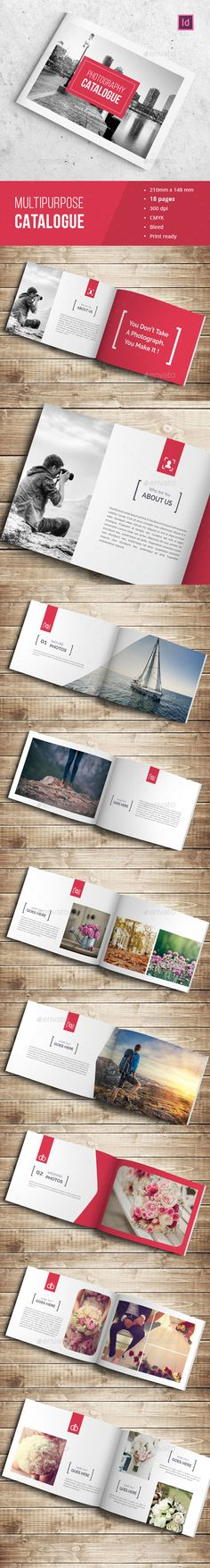 Photographer Portfolio Catalogue Template InDesign INDD. Download here…