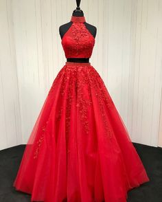 Red-Ballgowns-Prom-Dresses #EveningDresses
