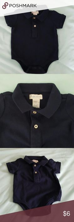Ralph lauren infant polo onesie Euc, worn once smoke free pet free home.  Navy blue Ralph Lauren Shirts & Tops Polos