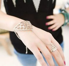 [Visit to Buy] Punk style hand chain Finger Bracelets & Bangles for Women Ethnic Jewelry Mujer Bijoux Slave Bracelet, Hand Bracelet, Tassel Bracelet, Bracelet Set, Bangle Bracelets, Bangles, Silver Bracelets, Silver Ring, Silver Jewelry