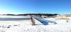 Stenungsund, Sweden in a cold beautiful day