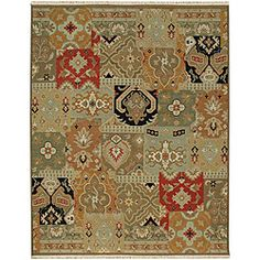 @Overstock - This traditional rug is an artwork within an artwork with colors of green, red and black. This wool rug can really tie your room together.  http://www.overstock.com/Home-Garden/Hand-knotted-Green-Red-Wool-Rug-10-x-14/6518832/product.html?CID=214117 $952.99