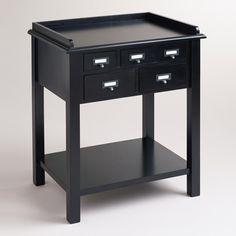 Black 5 Drawer Preston Table