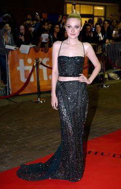 TIFF: Dakota Fanning In Atelier Versace