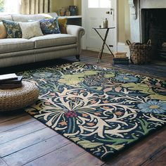 Seaweed rugs are highly inspirational with a stunning seaweed and floral design and a blend of contemporary colours. #InteriorDesign #WilliamMorris