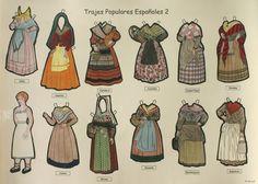 >Trajes por provincias de España. Recortable de los trajes populares de las provincias españolas de la C a la G (2)