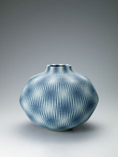 "Koichi Nichi #ceramics [Marbled jar with ""kōritsu"" pattern]"
