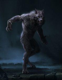 Werewolf Art by Kirill Khrol Dark Fantasy Art, Dark Art, Werewolf Tattoo, Werewolf Art, Werewolf Mythology, Vampires And Werewolves, Mythological Creatures, Magical Creatures, Horror Art