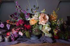 Art Inspires Life Shoot - Part 2 - McKenzie-Brown Photography Purple Wedding Tables, Wedding Centerpieces, Wedding Flowers, Floral Design, Floral Wreath, Weddings, Brown, Photography, Life