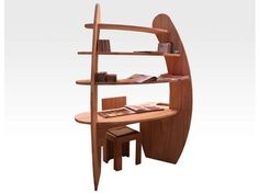 Scrivania in legno con scaffali Scrivania - Cinius